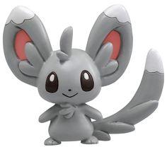 Takaratomy Monster Collection Pokemon Figure - Chillarmy/Minccino - M-022