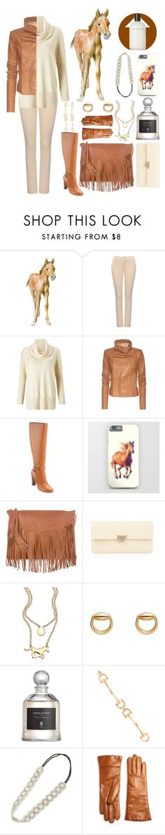 """Spirit Animals (Horse)"" by ubiquitous-merkaba ❤ liked on Polyvore featuring NYDJ, Miss Selfridge, Rick Owens, Lauren Ralph Lauren, New Look, Balenciaga, Blu Bijoux, Gucci, Serge Lutens and Deepa Gurnani"