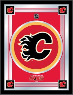 Grunt, sweat and tackle this carpet for your man cave. Add a little enthusiasm to your next sports party with the Calgary Flames Man Cave Area Rug. nylon carpet with non-skid recycled vinyl backing. Chromojet printed in vibrant team colors. Man Cave Area Rugs, Nhl Logos, Nylon Carpet, Floor Mats, Calgary, Rug Size, Applique, Banner, Flag