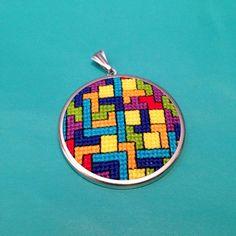 cross stitch necklace