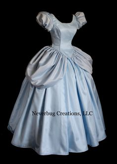 Cinderella All Blue Custom Costume by NeverbugCreations on Etsy Robes Disney, Disney Dresses, Mom Dress, Dress Up, Black Velvet, Cinderella Cosplay, Broadway Costumes, Princess Ball Gowns, Princess Dresses