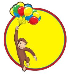 Curious George Label - Going to paint this on a child's chair. Little Girl Birthday, Baby Birthday, Birthday Bash, Birthday Ideas, Curious George Party, Curious George Birthday, Monkey Birthday Parties, Party Entertainment, Curios George