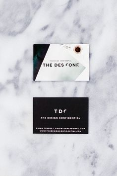 The Design Confidential Business Cards -- cassie, the veda house