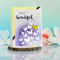 Spritzing & Stenciling with Shimmerz Handmade Card Making, Stenciling, I Card, Painting, Art, Art Background, Stencils, Painting Art, Kunst