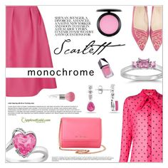 """""""Color Me Pretty: Head-to-Toe Pink"""" by applesofgoldjewelry ❤ liked on Polyvore featuring Luxe, Yves Saint Laurent, Givenchy, Sophia Webster, MAC Cosmetics, GUiSHEM, Guerlain and Apples of Gold"""
