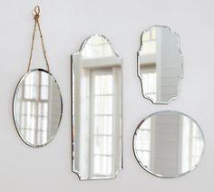 Beveled edged mirrors