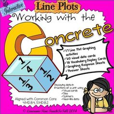 LINE PLOTS INTERACTIVE COMMON CORE from TeachToTell on TeachersNotebook.com -  (62 pages)  - This 62 page comprehensive unit on Line Plots covers all key Mathematical concepts and strategies to collate and display data in fractions of a unit using interactive materials.