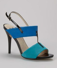Look at this #zulilyfind! Blue & Turquoise Buckle Slingback by BÉTSY #zulilyfinds