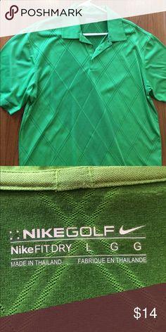 Mens golf shirt Green Nike Fit Dry golf shirt Nike Shirts Polos