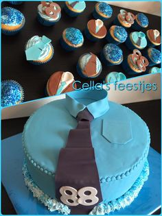 Opa´s taart.. Food To Make, Birthday Cake, Cupcakes, Desserts, Pastries, Birthday Cakes, Postres, Cupcake, Deserts