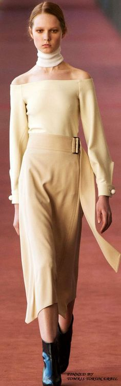 Lemaire Collection Fall 2015  women fashion outfit clothing style apparel…