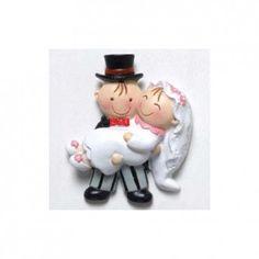 Bomboniera divertente con calamita sposi!