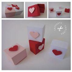 Fiche créative n°13 : Des petites boites pour la Saint Valentin