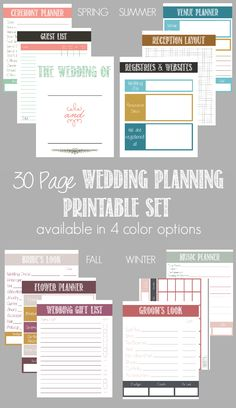 Do you know someone who is getting married share this wedding 30 page wedding planning printable set diy wedding planner solutioingenieria Image collections