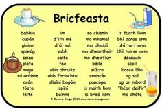 Mata Focal: Bricfeasta Scottish Gaelic, Gaelic Irish, Learn Welsh, Gaelic Words, Welsh Language, Class Displays, Language Quotes, Primary Teaching, Irish Celtic
