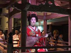 佐伯市はる祭りの菊姫道中の様子