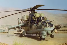 in Afghanistan during the Soviet-Afghan War Attack Helicopter, Military Helicopter, Military Jets, Military Aircraft, Military Weapons, Mi 24 Hind, Convertible, Afghanistan War, Armored Fighting Vehicle
