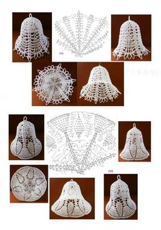 bajkopisarka - Her Crochet Crochet Snowflake Pattern, Christmas Crochet Patterns, Holiday Crochet, Crochet Snowflakes, Crochet Motif, Crochet Tree, Crochet Angels, Crochet Crafts, Crochet Flowers