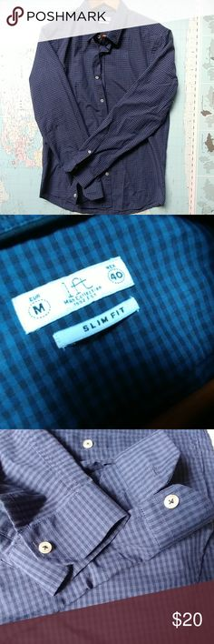 Men casual shirt From Lefties Madrid  This shirt was never used  Tags gone  Slim fit  Medium Shirts Casual Button Down Shirts