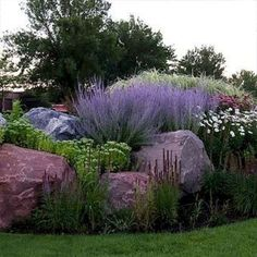 38 Amazingly Green Front-yard & Backyard Landscaping Ideas Get Basic Engineering, Home Design & Home Decor. Amazingly Green Front-yard & Backyard Landscaping Ideasf you're anything like us, y Landscaping With Rocks, Front Yard Landscaping, Backyard Landscaping, Backyard Ideas, Pool Ideas, Farmhouse Landscaping, Garden Yard Ideas, Landscaping Design, Burm Landscaping