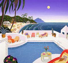 Antigua Beach    Silkscreen by Thomas McKnight