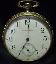 Antique 1916 Hampden Open Face 17 Jewels Wm McKinley Size 16 Pocket Watch f99ceab987a