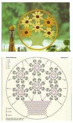 Flower Pot SunCatcher Flores ( FLOWERS) em Crochet https://plus.google.com/photos/116276660525887840102/albums/5455140668425138721/5455141573072404498?banner=pwa&pid=5455141573072404498&oid=116276660525887840102