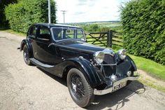 Black Riley Kestrel - one like this was driven by Vivian Adair. (This model is a 1936 Riley Kestrel 12/4 Six Light.)
