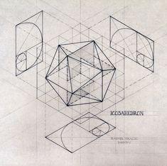 venezuelan artist Rafael Araujo is such a big inspiration. Mathematics Geometry, Geometry Art, Sacred Geometry, Solid Geometry, Geometry Pattern, Geometric Designs, Geometric Shapes, Zentangle, Geometric Construction