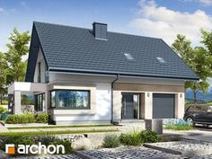 Projekt domu Dom w zdrojówkach - ARCHON+ Bungalow, Bedrooms, Outdoor Structures, House Design, Patio, Mansions, House Styles, Outdoor Decor, Home Decor