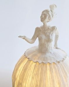 Lamps made from papier mache
