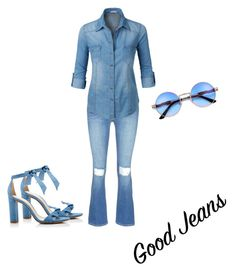 """""""Casual Denim"""" by destinywdl on Polyvore featuring Alexandre Birman, Frame and LE3NO"""