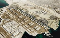 Image 2 of 3 from gallery of OMA Masterplans Airport City in Qatar. Photograph by OMA Plan Maestro, Masterplan, Airports, City Photo, Aviation, Gallery, Image, Ideas