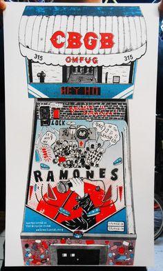 CBGB & Ramones - Art Print
