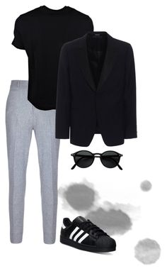 """Без названия #6"" by m-linev on Polyvore featuring adidas, Neil Barrett, Alexander McQueen, Izipizi, men's fashion и menswear"