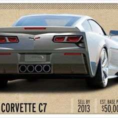 2014 Corvette C7 AKA Corvero? I've seen development pictures of a smooth rear facia with c 6 style headlamps