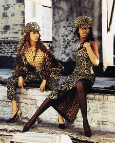 Tyra Banks and Beverly Peele in Dolce & Gabbana for Vogue US,1992
