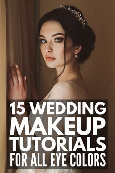 15 Wedding Makeup Tutorials for All Eye Colors | Whether you want a soft, natural, romantic makeup look for your big day, or want something more dramatic, we've curated 5 step-by-step tutorials each for brown eyes, blue eyes, and green eyes! Perfect for blondes, for brunettes, for fair skin, and for darker complexions, these classic makeup looks are perfect for summer, fall, winter, and spring. Bridal Makeup For Brown Eyes, Bridal Makeup For Brunettes, Bridal Eye Makeup, Wedding Makeup Looks, Makeup For Green Eyes, Blue Eye Makeup, Smokey Eye Makeup, Bridal Makeup For Fair Skin, Edgy Makeup