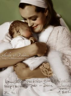 Actress Romy Schneider and Son | Romy with her baby by VelkokneznaMaria
