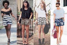 Shortinho estampado, soltinho, com cropped Looks Style, My Style, Look Short, Blogger Girl, Black Tops, Ideias Fashion, Girl Fashion, Short Dresses, How To Wear