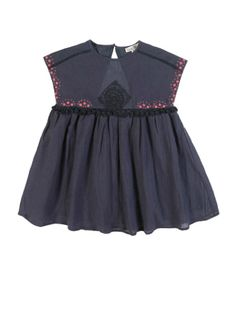Embroidered Dress in Midnight Blue | Louise Misha