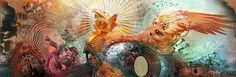 Android Jones - Rize Up Spectrum Android Jones, Varanasi, Fractal Tattoo, Visionary Art, My Favorite Image, Psychedelic Art, Trippy, Fantasy Art, Modern Art