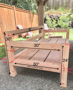Outdoor Furniture Plans, Diy Furniture Plans Wood Projects, Woodworking Projects Diy, Woodworking Plans, Diy Projects, Outdoor Sofa, Deck Furniture, Outdoor Diy Bench, Wooden Outdoor Chairs