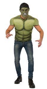 Avengers 2: Age of Ultron Hulk Adult Mens Muscle Shirt & Mask - 352485 | trendyhalloween.com #menscostumes
