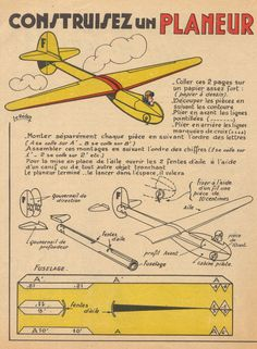Crafts For Boys, Diy For Kids, 3d Puzzel, Photo Avion, Paper Aircraft, Paper Art, Paper Crafts, Airplane Crafts, Model Airplanes