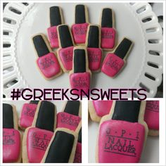 OPI Nail Polish cookies (any color) .... GREEKS-N-SWEETS on Etsy, $39.00