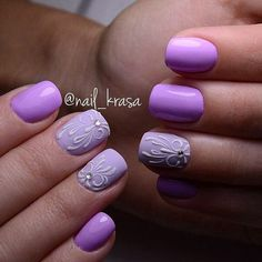 If and when I have the time, my next polish change will be this :) All Things Purple, Girly Things, Girly Stuff, Art Simple, Super Cute Nails, Cool Nail Designs, You Nailed It, Fun Nails, Beauty Hacks