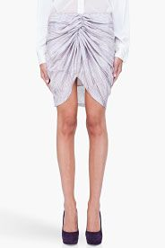 SEE BY CHLOE Striped Center Ruched Skirt