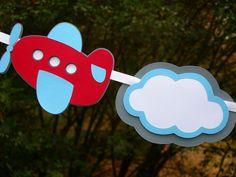 Avión y guirnalda de nubes por encargo por CelebrationPaperCo