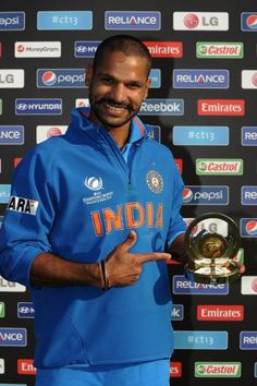 Shikhar Dhawan Man of the Match-India vs South Africa: ICC Champions Trophy-2013